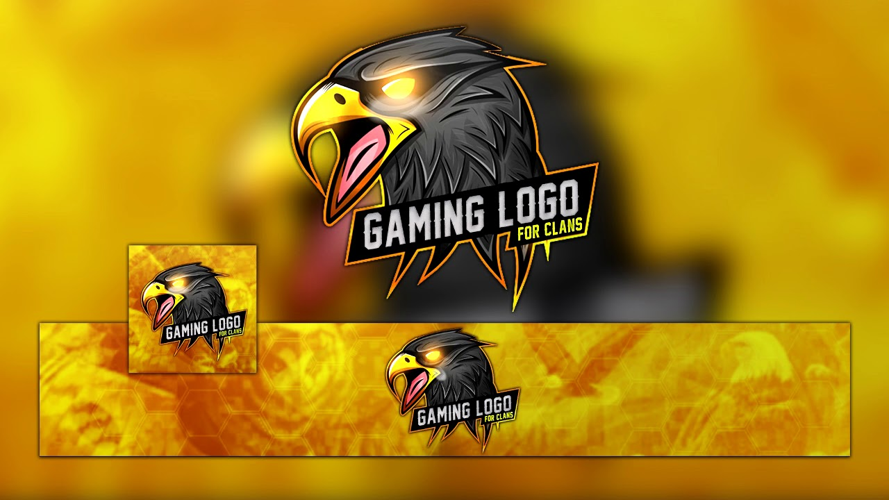 free eagle mascot clan logo for your team channel photoshop
