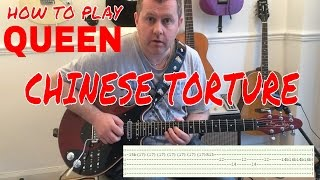 Chinese Torture - Queen - guitar tutorial (Free Guitar Tab Download)