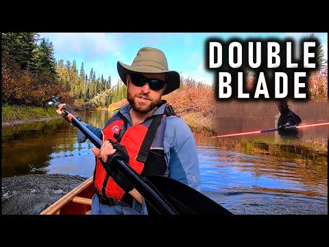 Is a Double Blade (Kayak Style) Paddle Good in a Canoe? First Impressions on a 200km Solo Trip
