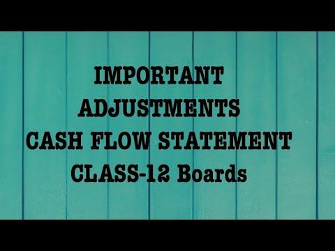 Cash Flow Statement | Important Adjustments of Cash Flow Statement for Class 12 Boards