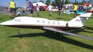 GIGANTIC RC AIRLINERS DASSAULT FALCON 20 WITH CITATION C-525 BOTH TURBINE POWERED