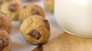 Chocolate Chunk Cookie Dough Bites   Vegan + Hclf