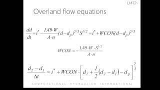 SWMM hydrology quantity modeling