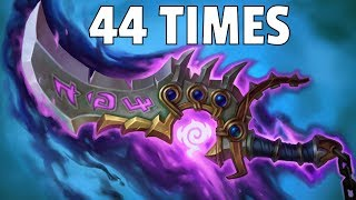 Hearthstone - Kingsbane Played 44 Times in 1 Game