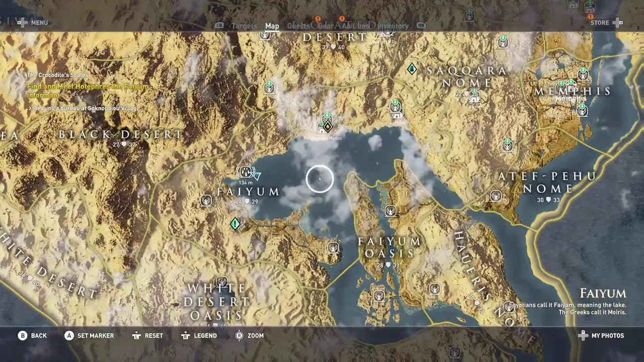 Assassin S Creed Origins Bayek S Promise Taweret Stone Circle Constellation In Faiyum Youtube