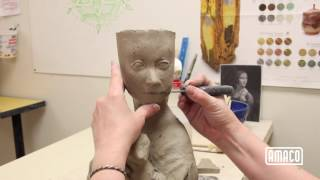 Sculpting the Human Figure -Part 9: Building the Nose and Mouth