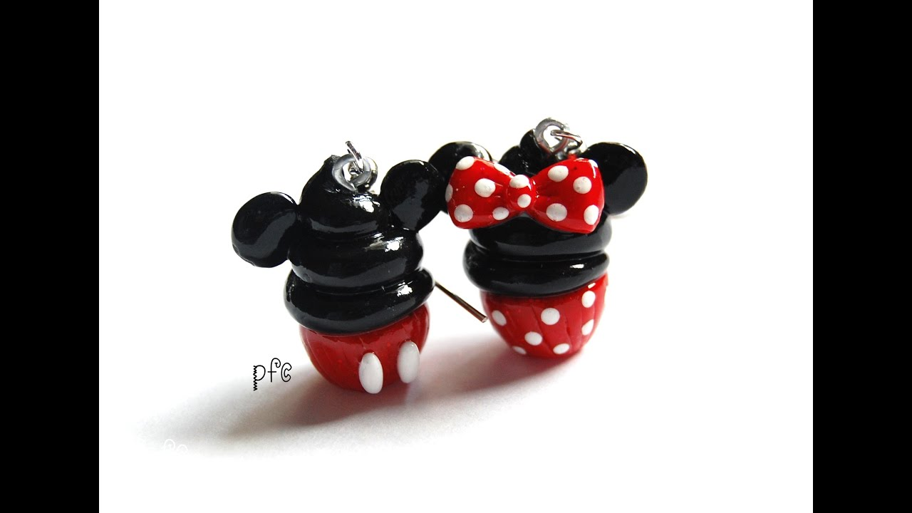 necklace minnie mouse polymer clay