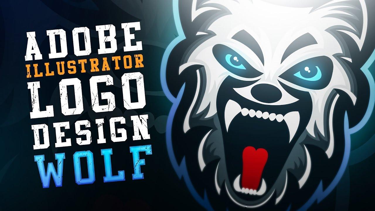 Adobe Illustartor & Photoshop   Mascot   WOLF Logo Design ( Speedart)