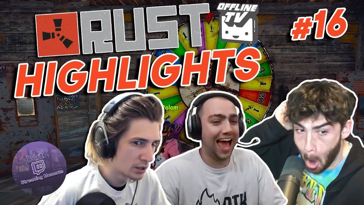 xQc loses it all and Shroud rubs it in | OTV Rust Server Highlights #16