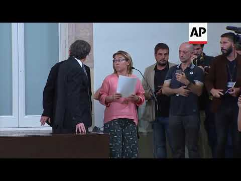 Catalan regional president signs declaration of independence