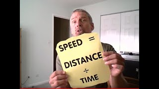 Speed Is Distance Over Time (Velocity and Acceleration Song) - With closed captions!