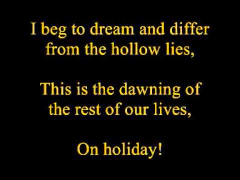 Green Day - Holiday (Uncensored and Lyrics)
