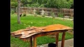 Garden Wooden Work Bench By  Bentukbentuktaman.blogspot.com/