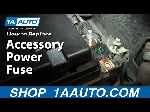 power windows/mirrors/locks not working? - replace main accessory power fuse  02-06 gmc envoy - youtube