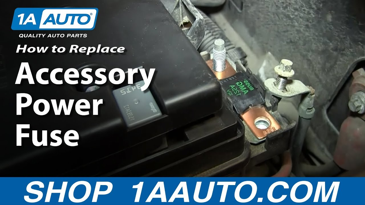 install replace main accessory power fuse if your power windows doors mirrors etc are not working [ 1280 x 720 Pixel ]