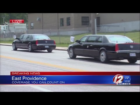 Vice President Joe Biden arrives in East Providence