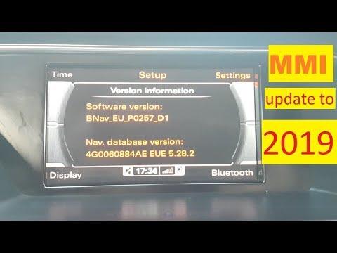 Audi MMI update 2019 maps
