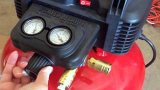 How to Use a Porter Cable Air Compressor and Nail Gun