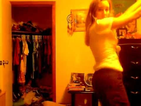 pretty teen girl dancing!