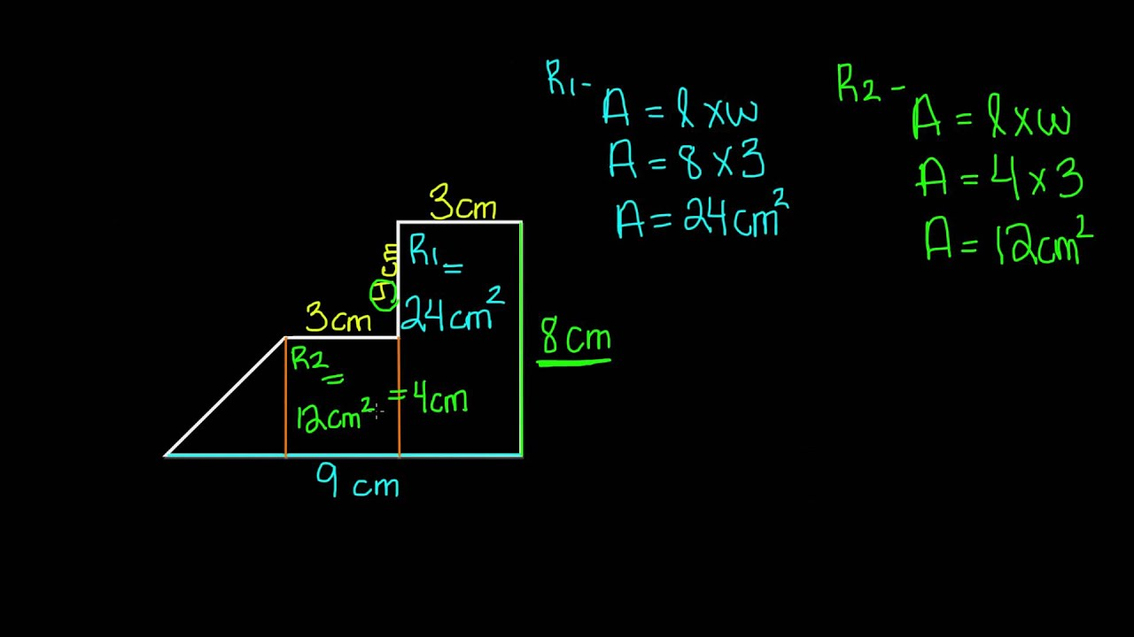 hight resolution of Area of Irregular Shapes -7th Grade Math - YouTube