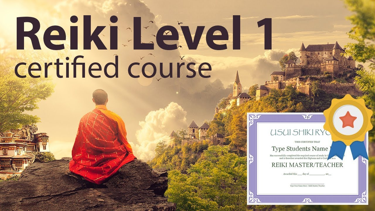 Reiki Course Level 1 + Diploma 1h and 38 minutes - YouTube