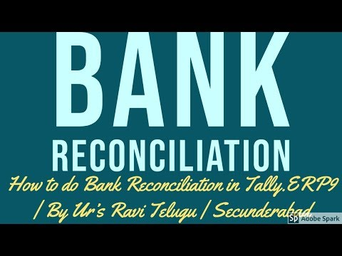 7. Bank Reconciliation Statement In Tally | By Ur's Ravi Telugu | Secunderabad