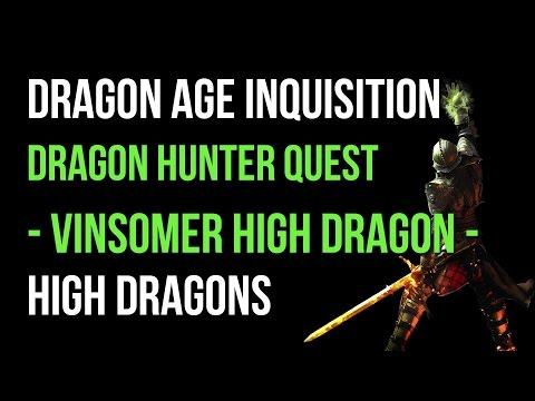 Dragon Age Inquisition Walkthrough Dragon Hunter Quest: Vinsomer High Dragon