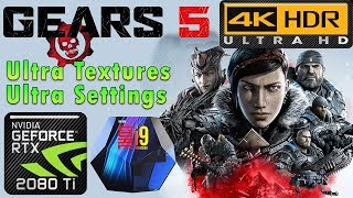 Gears 5 4K | HDR | Ultra Textures | Ultra Settings | RTX 2080 Ti | i9 9900k 5GHz