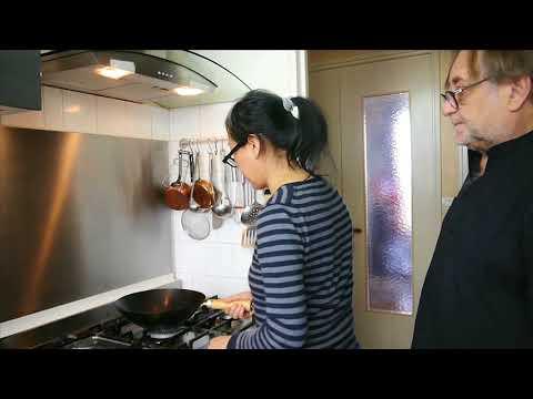 Poivron corne vert au porc et sauce Chinoise