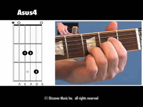 Guitar Chord Open Asus4 Youtube