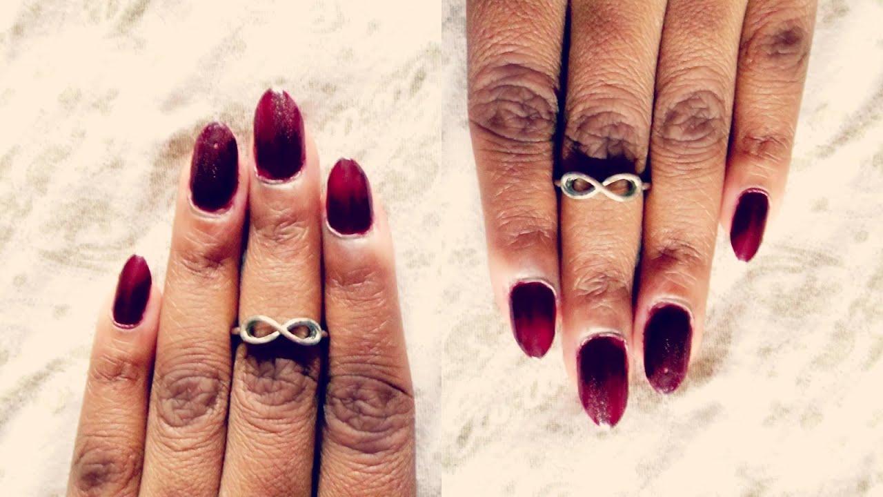 Rihanna Inspired Stiletto Nails!   NO ACRYLIC ~Last 3 Weeks! - YouTube