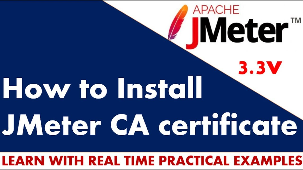 JMeter Tutorial | How to install jmeter CA certificate for https recording