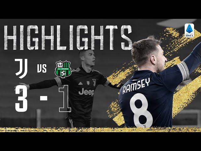 Juventus 3-1 Sassuolo | Danilo, Ramsey & CR7 Seal Important Win | Serie A Highlights