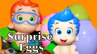 Bubble Guppies Surprise Eggs Toys Nickelodeon Beach Gil Nonny Mystery Spiderman TMNT Egg Toys