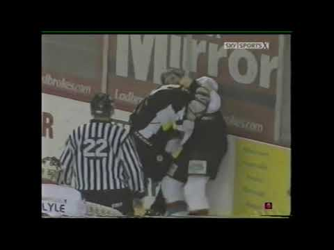Andre Payette Vs Bobby Robins / Malcolm MacMillan EIHL Fights 31-1-09