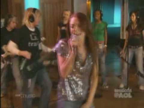 Lindsay Lohan Over Live @ AOL Sessions