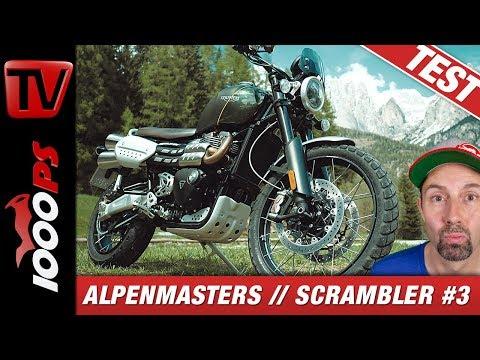 Triumph Scrambler 1200 XC Test - Alpenmasters Vergleich - Scrambler 3/4
