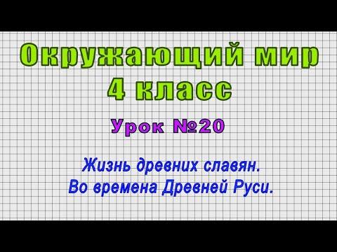 Видеоурок восточные славяне 4 класс пнш