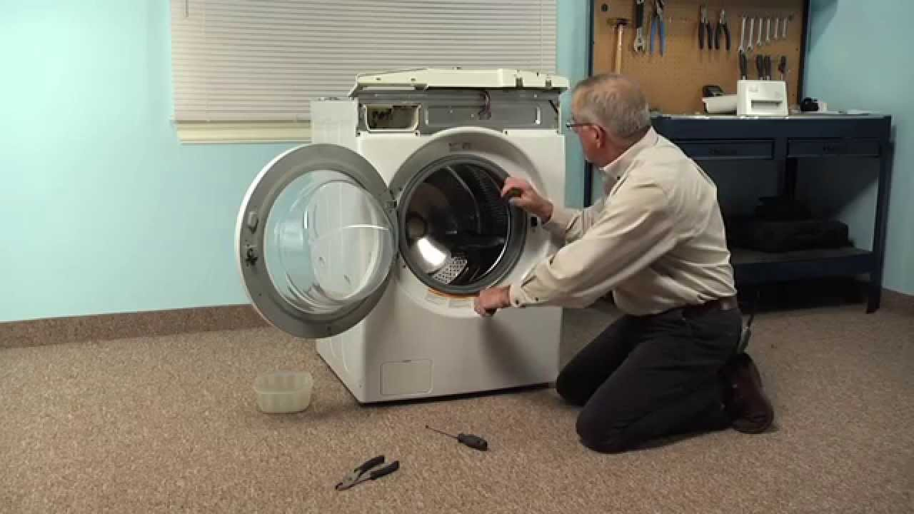 Washing Machine Repair Replacing The Drain Pump Lg Part