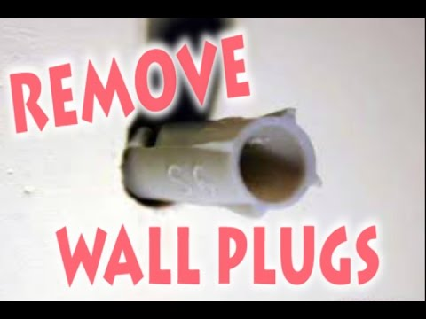 How to Remove Wall Plug, (Raw Plug,Screw Anchor, Dowel) From The Wall