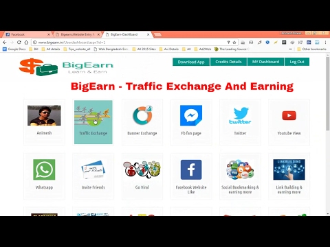 How To Earn From BigEarn Traffic Exchange