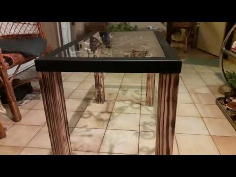 Home made coffee table, DIY metal table