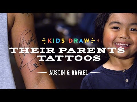 Austin Designs a Tattoo for His Dad | Kids Draw | Cut