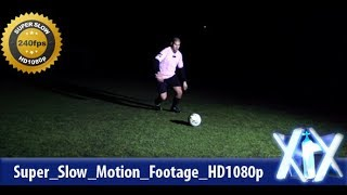 Soccer Player Kicking Ball 240fps | Stock Footage - Videohive