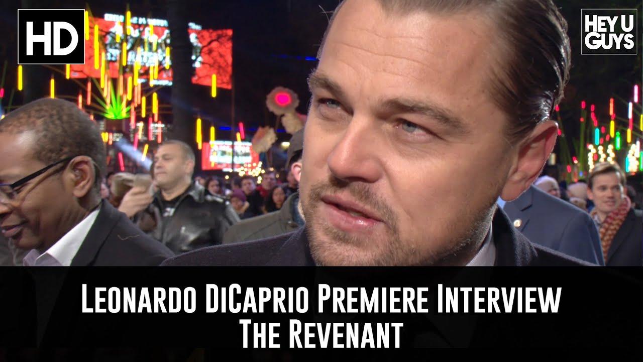 7f83b318a Leonardo DiCaprio Premiere Interview - The Revenant - YouTube