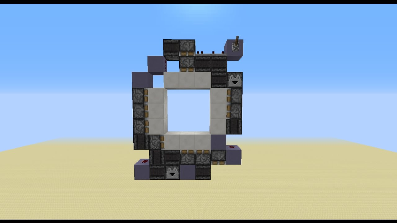 Tiny fast 3x3 piston door 63 blocks w observer for Porte 3x3 minecraft