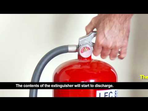 How To Use a Fire Extinguisher In  Chemical Dry Powder