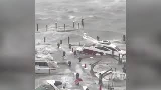 HURRICANE IRMA hits Miami and Key West Florida Sept 10th 2017