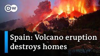 Long-dormant volcano erupts on Spanish island of La Palma | DW News