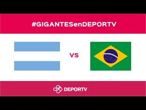 #GIGANTESenDEPORTV - Argentina vs. Brasil - AmeriCup femenina 2017 - Grupo A